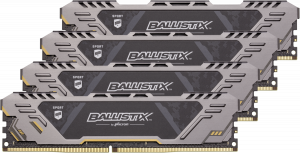 Ballistix Sport AT DDR4 32GB sada 8GBx4 3000 MT/s stříbrná 288pin