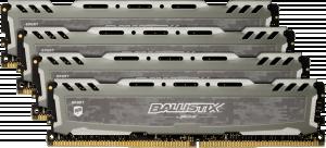 Ballistix Sport LT 32GB DDR4 KIT 8GBx4 3000 DIMM 288pin grey stříbrná