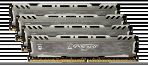 Ballistix Sport LT 64GB Kit DDR4 16GBx4 2666 DIMM 288pin grey
