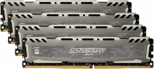 Ballistix Sport LT 64GB DDR4 KIT 16GBx4 3000 DIMM 288pin grey DR
