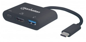 Manhattan USB-C 3.1 multiport adaptér -> HDMI/USB-A/USB-C černý