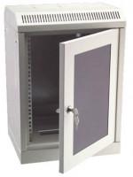 """Opticord 9307, 10"""" rozvaděč nástěnný 12U/280mm skleněné dveře"""
