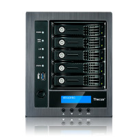 Thecus 5-Bay tower NAS, SATA, Celeron™J1900 2.0 GH, 4GB DDR3, 2x GbE, 3xUSB 3.0
