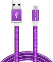 ADATA Micro USB kabel pletený 1m fialový (AMUCAL-100CMK-CPU)
