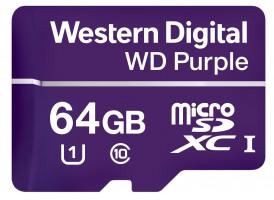 WD FLASH WDD064G1P0A fialová microSD XC 64GB SD Class 10, UHS SpeedClass 1, SDA 5.0 / 100MB/s read, 60MB/s write / 64 TB