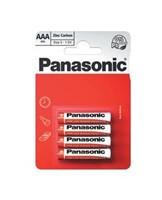 PANASONIC Zinkouhlíkové baterie - Red Zinc - blistr AAA 1,5V balení - 4ks (00163698)