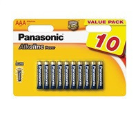 PANASONIC Alkalické baterie - Alkaline Power AAA 1,5V balení - 10ks (00261959)