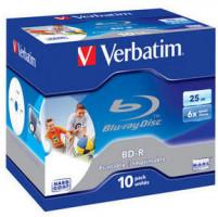 Verbatim BD-R SL Blue-Ray /Jewel/ 6x /25GB/ 10-pack/, printable