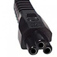 Power Cord 3-Pin, 1.8/2m, EU - black, single packed