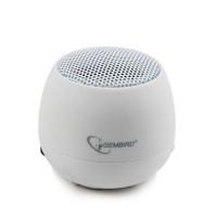 Gembird přenosní reproduktory (iPod, MP3 player, mobilní telefon, laptop) bílá barva
