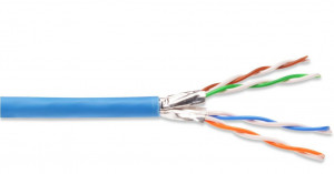 DIGITUS CAT 6A U-FTP Kabel 4x2,drát AWG23, LSOH, modrý, 305m