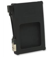 "Manhattan externí pouzdro, Hi-Speed USB 2.0, SATA, 2.5"", černá, silikon"