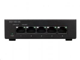 Cisco Small Business SG110D-05 switch, 5x 10/100/1000, desktop