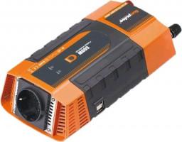 Měnič napětí Carspa PID600 12V/230V+2xUSB 600W, modifikovaná sinus, digitální display (PID600-122)