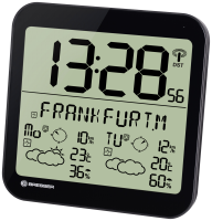 Bresser MyTime Meteotime LCD Wetter-Wanduhr černá