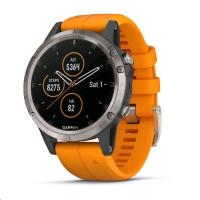 Garmin fenix5 Plus Sapphire Titanium, Solar Flare Orange
