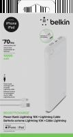 Belkin Boost Charge Power Bank 10K Light.Connector+ kabel white