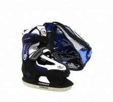 HUDORA Hokejové brusle - set HD 2010 velikost 32-35 modrá | 43022