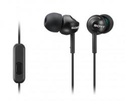 SONY sluchátka MDR-EX110AP, handsfree, černé (MDREX110APB.CE7)