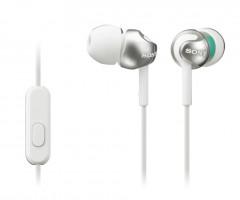 SONY sluchátka MDR-EX110AP, handsfree, bílé (MDREX110APW.CE7)