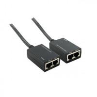 4World HDMI 1080p extender přes Cat 5e/6, dosah 30 metrů, vysílač + přijímač