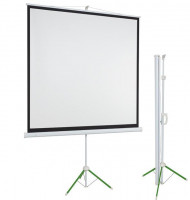 ECO portable projection screen on stativ 153x203