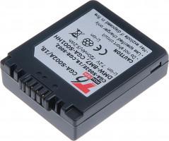 Baterie T6 power Panasonic DMW-BM7, CGA-S002E, CGA-S002, 720mAh, šedá (DCPA0004)