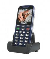 EVOLVEO EasyPhone XD, mobilní telefon pro seniory s nabíjecím stojánkem, modrý (EP-600-XDL)