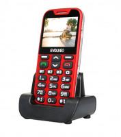 EVOLVEO EasyPhone XD, mobilní telefon pro seniory s nabíjecím stojánkem, červený (EP-600-XDR)