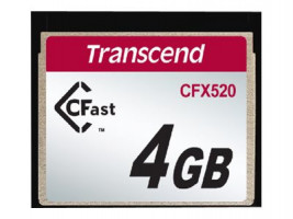 Memory card Transcend Industrial CFX520, 4GB, SATA II