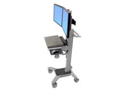Ergotron Neo-Flex Dual WideView WorkSpace - Vozík pro LCD displej / klávesnice / myš / CPU - plast,