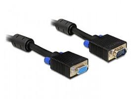 Delock prodlužovací kabel VGA HD 15pin F/15pin M dvojité stínění s ferity, 15m (82568)