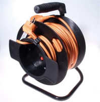 Kabel prodlužka PPB 220V 25m na bubnu HQ (1zás., 16A) POWERGARDEN