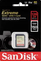 SanDisk Extreme SDHC Video 128GB 150MB V30 U3 SDSDXV5-128G-GNCIN