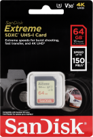 SanDisk Extreme SDXC Video 64GB 150MB V30 U3 SDSDXV6-064G-GNCIN