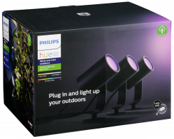 Philips Hue Lily LED 3lmp. Spot Basic sada černá