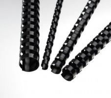 Plastové hřbety 45 černé
