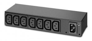 APC Rack PDU, Basic, 0U/1U, 120-240V/15A, 220-240V/10A, (8) C13 (AP6015A)