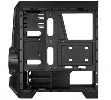 Aerocool AeroEngine RGB-G-BK-v2 RGB Midi-Tower - schwarz Window