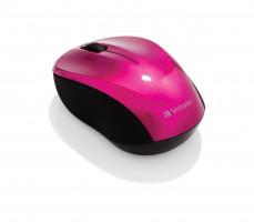 VERBATIM Bezdrátová laserová myš GO Nano – Hot Pink