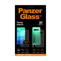 PanzerGlass Samsung Galaxy S10, black Case Friendly + Clear Case