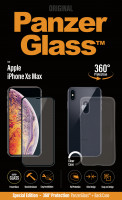 PanzerGlass Apple iPhone Xs Max, black + Clear Case