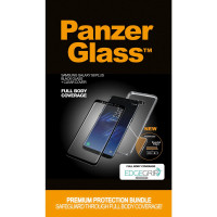 PanzerGlass Samsung Galaxy S8+, black + Clear Case