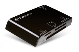 Transcend externí čtečka paměťových karet, USB 2.0, černá (TS-RDP8K)