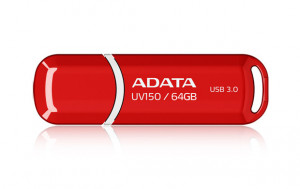 ADATA Flash Disk 64GB USB 3.0 Dash Drive UV150, červený (R: 90MB/s, W: 20MB/s)