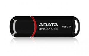 ADATA Flash Disk 64GB USB 3.0 Dash Drive UV150, černý (R: 90MB/s, W: 20MB/s)