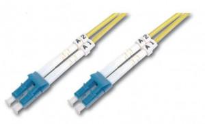 Digitus Fiber Optic Patch, LC to LC,Singlemode 09/125 µ, Duplex, 2m
