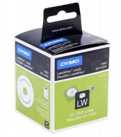 Dymo CD/DVD štítky pro LabelWriter 57mm černý tisk, bílé štítky 160 ks 14681