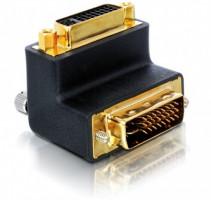 Delock adaptér DVI 29pin male-female pravá angled