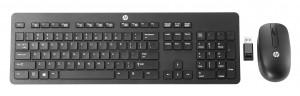 HP Wireless Business Slim klávesnice RF bezdrátový QWERTY Anglický Černá